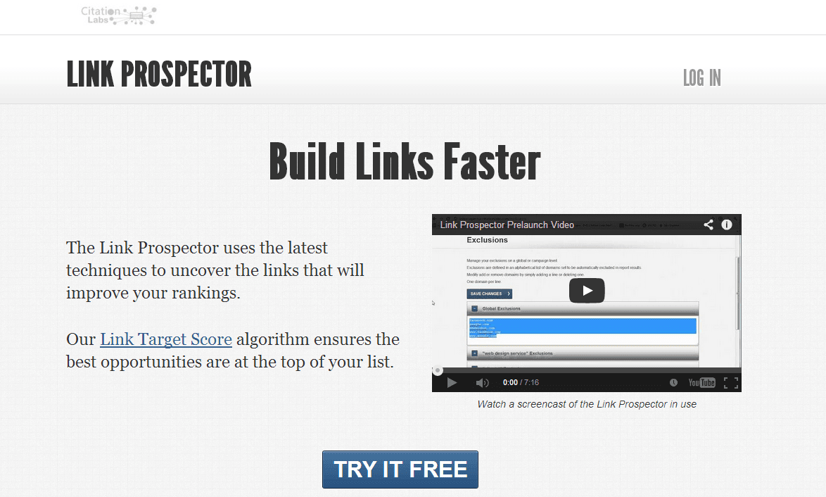 Link Building Tool from Citation Labs