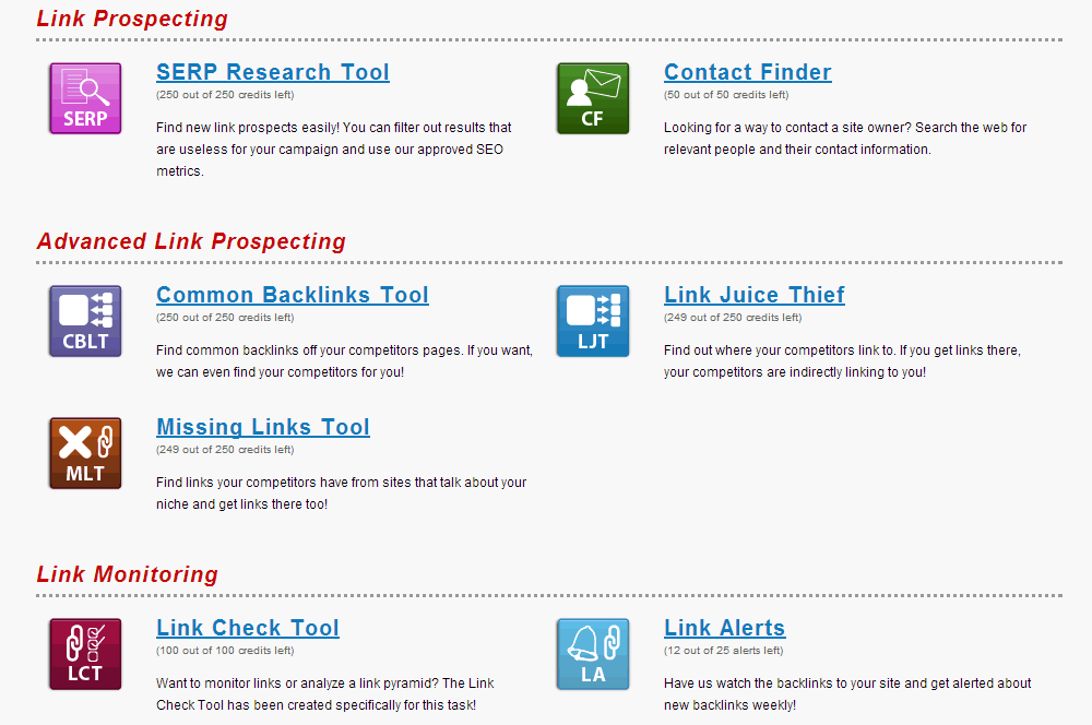 Link Research Tools Link Prospecting Tools
