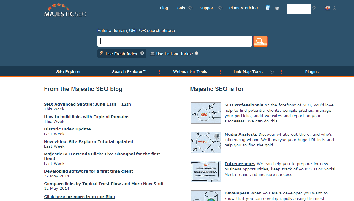 Majestic SEO for Link Building